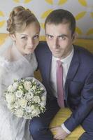 Hochzeit eines jungen Paares foto