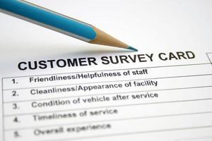 Kundenumfragekarte foto
