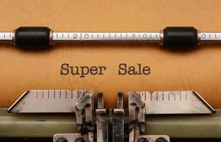 Super Sale foto