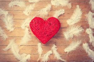 Spielzeug Herzform und Federn