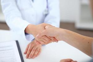 Konzept für Partnerschaft, Vertrauen und medizinische Ethik foto