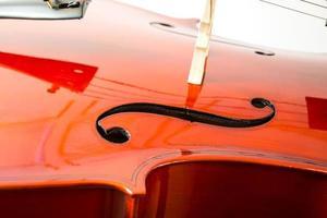 Geige, lokalisiert auf einem weißen Hintergrund foto