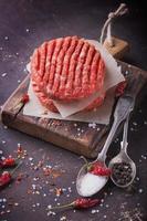 hausgemachte Burger kochen foto