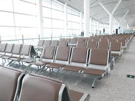 Flughafenterminal mit moderner Architektur foto