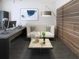 Sekretärsraum im Avantgarde-Stil foto