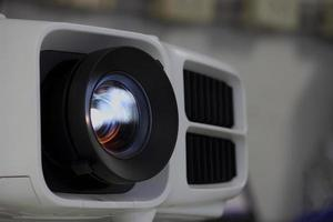 Lichtprojektor Objektiv schließen foto