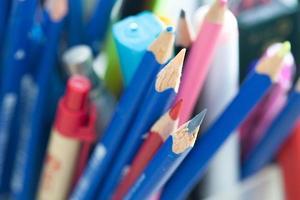 Bleistift Notizbuch Zeichnung Shotnote für Wirtschaft und Bildung foto