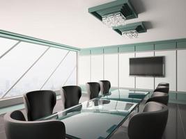 Innenraum des modernen Sitzungssaals 3d foto