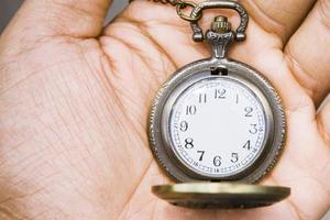 Fotoillustration der Taschenuhr ohne Stundenzeiger foto