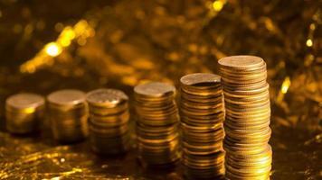 angesammelte Münzen foto