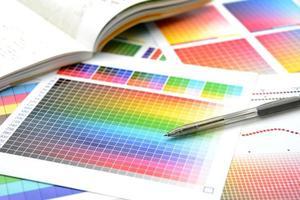 Farbübersicht, um die Farben für den Druck anzupassen foto