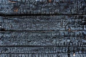 verkohltes Holz foto