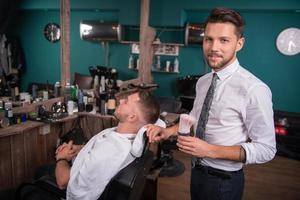 professioneller Friseursalon foto