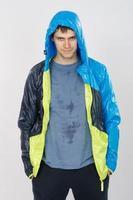 Porträt des Sportlers in Olimpiyki nach dem Training foto