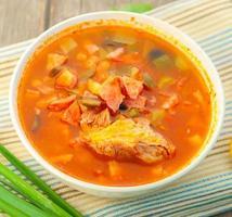frische hausgemachte Suppe foto