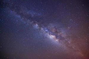 Milchstraße. Langzeitbelichtung Foto. foto