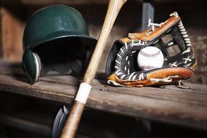 Baseballausrüstung Stillleben foto