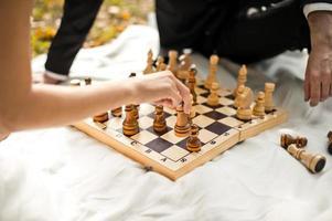 Schachspiel. foto