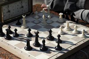 Schach. Spielzeit foto