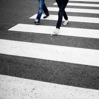 Gefahr künstlerische Straßenkreuzung