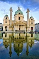 wien, österreich - karlskirche 1 foto