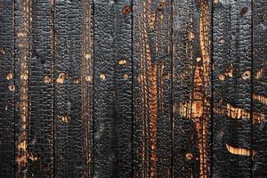 Textur aus gebranntem Holz foto