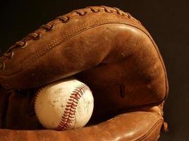 Baseball und Handschuh foto