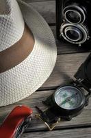 Panamahut und Ausrüstung foto