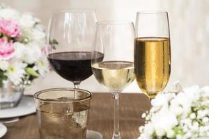 Getränke für die Hochzeit foto