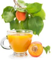 frisches Aprikosengetränk foto