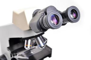 Mikroskop isoliert foto