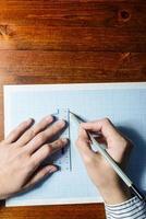 Hände zeichnen foto