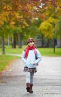 fröhliches Schulkind foto