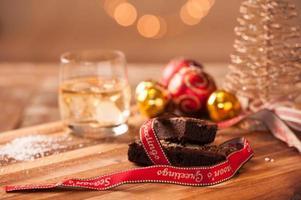 Weihnachtsessen und -getränk