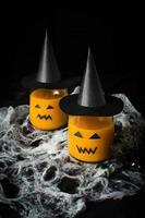 Halloween trinken Kürbissaft foto