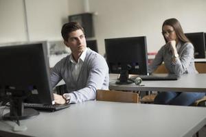 Schüler im Klassenzimmer foto