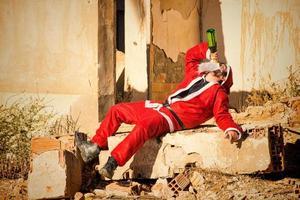 Santa trinken foto