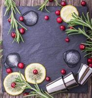 Cranberry-Getränk für Weihnachten foto