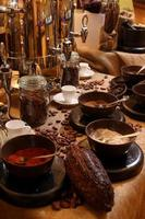 Hot Chocolate Drink Setup