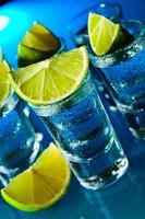 alkoholisches Getränk mit Limette