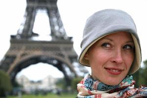 Blick auf den Eiffelturm. foto