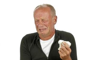 weinen trauriger Mann foto
