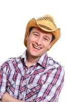 glücklicher Cowboy foto