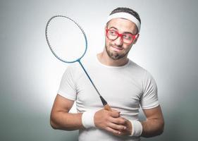 lustiger Tennisspieler foto