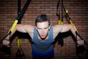 Training im Fitnessstudio foto