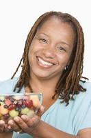 übergewichtige Frau im mittleren Erwachsenenalter foto