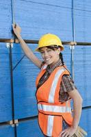 glücklicher Arbeiter foto
