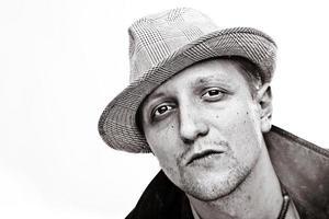 Mann mit Hut foto