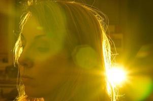 Starburst Gel Gel modifizierte Blitzpistole mit Hintergrundbeleuchtung foto