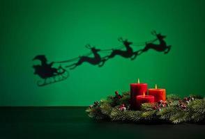 Weihnachtsmann Schlitten